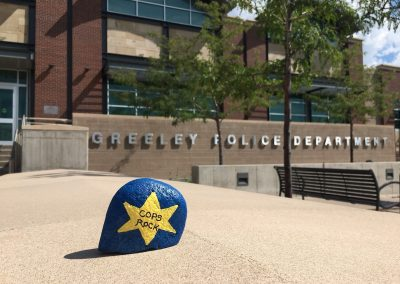 Painted Rock With Message Cops Rock In Front of Police Station